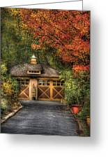 House - Classy Garage Greeting Card by Mike Savad