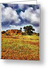 House In A Desert Land Greeting Card