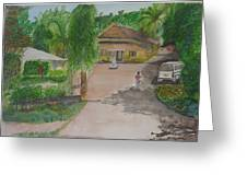House In Goa Greeting Card