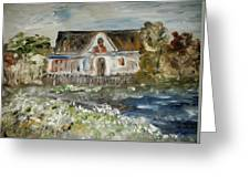 House In Mendocino Greeting Card