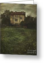House In Storm Greeting Card