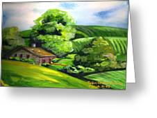 House In The Country Greeting Card