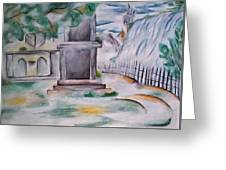 House In The Fog Greeting Card