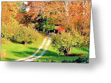 House In The Hills Greeting Card