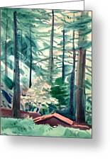 House In The Redwoods Greeting Card