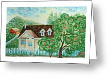 House In The Village Greeting Card
