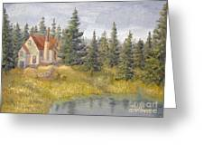 House In The Woods 2  Greeting Card
