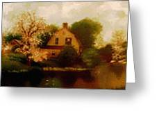 House Near The River. L B Greeting Card