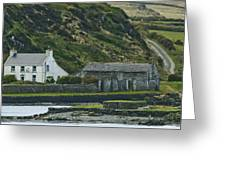 House Near Valencia Island Ireland Greeting Card