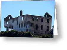 House Of The President Of Alcatraz. Greeting Card