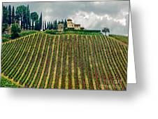 House On A Hill-tuscany Greeting Card