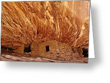 House On Fire Ruins Greeting Card by Melany Sarafis