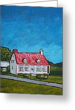 House On Ile D'orleans Greeting Card