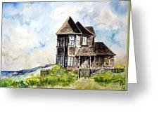 House On Little Lake Street Mendocino Greeting Card