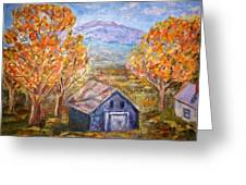 House On Mountain Greeting Card