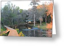 House On The Inlet Greeting Card