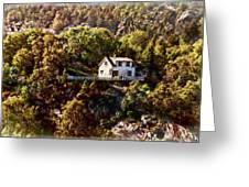 House On The Side Of The Mountain Greeting Card