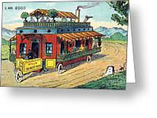 House On Wheels, 1900s French Postcard Greeting Card