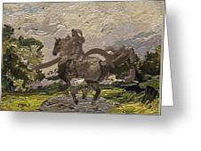 House Statue In The Field Greeting Card
