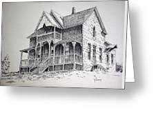 House Virginia City Montana Greeting Card