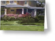 House With Azaleas Greeting Card