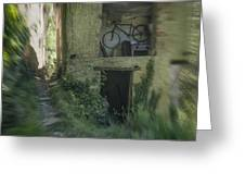House With Bycicle Greeting Card