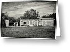 House With Outbuildings Greeting Card