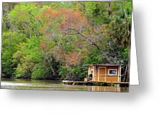 Houseboat On The Apalachicola River Greeting Card