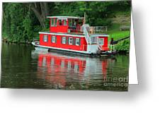 Houseboat On The Mississippi River Greeting Card