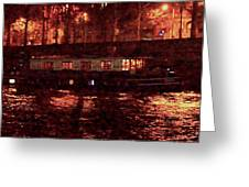 Houseboat On The Seine Greeting Card