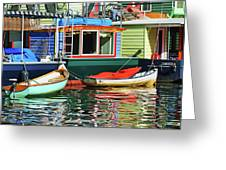 Houseboats 4 - Lake Union - Seattle Greeting Card