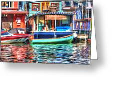 Houseboats - Lake Union - Seattle Greeting Card