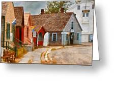 Houses - Maritime Village  Greeting Card