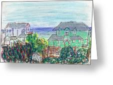Houses At Whalehead Beach Greeting Card