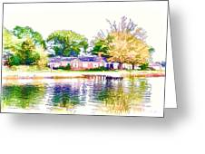 Houses By The Lake 1 Greeting Card