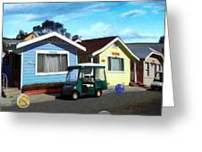 Houses In A Row Greeting Card
