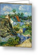 Houses In Auvers Greeting Card