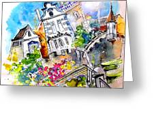 Houses In Ponte De Lima Greeting Card