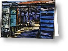 Houses In Sinamaica Lake - Venezuela Greeting Card