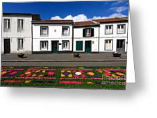Houses In The Azores Greeting Card