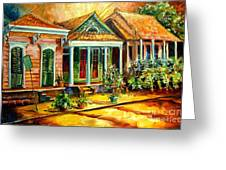 Houses In The Marigny Greeting Card