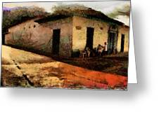 Houses Of Choroni Greeting Card