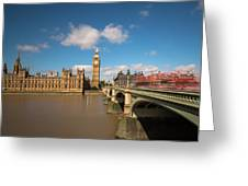 Houses Of Parliament And Westminster Bridge Greeting Card