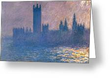 Houses Of Parliament - Sunlight Effect Greeting Card