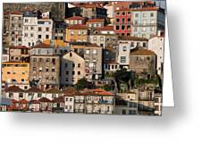 Houses Of Porto In Portugal Greeting Card