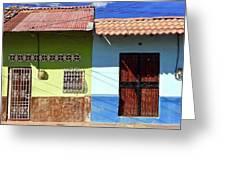 Houses On Street In Leon, Nicaragua Greeting Card
