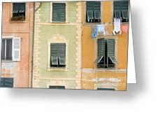 Houses, Portofino, Italy Greeting Card