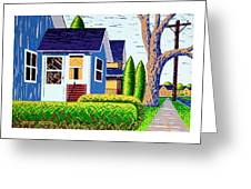 Houses Remastered Greeting Card
