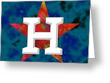 Houston Astros Logo Greeting Card
