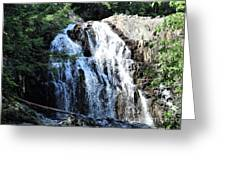 Houston Brook Falls Panorama Greeting Card